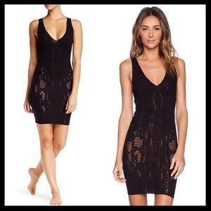 free people // lace slip dress bella coach bodycon